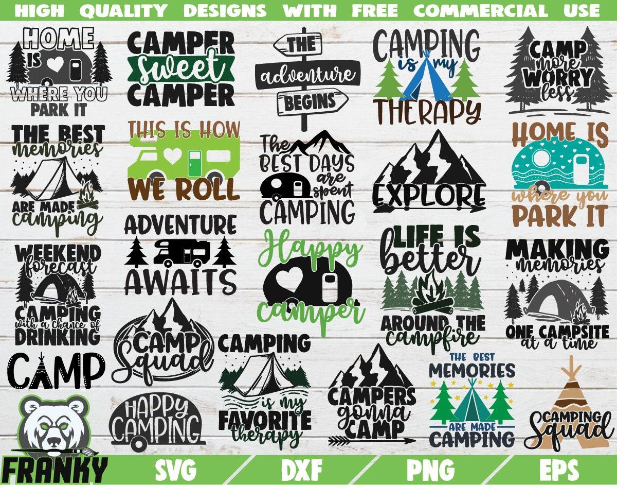 Camping Bundle 22 Designs Camping Svg Camper Svg Etsy