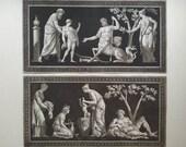 19th century Greek Mythology, greek gods The Life Of Achilles Two Aquatints