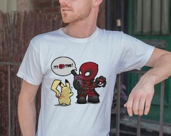44bb38501d6 Deadpool Pokemon GO time! T-Shirt
