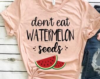 ca24bdd6b Don't Eat Watermelon Seed Womens Shirt   Funny Pregnancy T Shirt   Maternity  Shirt   Pregnancy Reveal   Watermelon Shirt