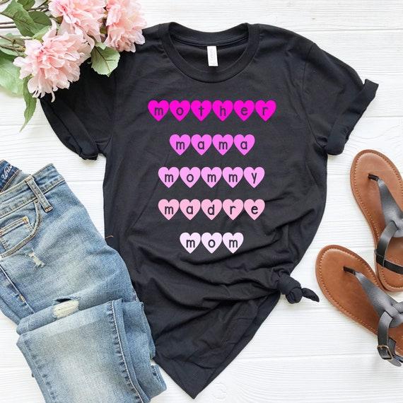 #Momlife Funny Women/'s V-Neck T-Shirt Gift for Mom Mother/'s Day Mommy