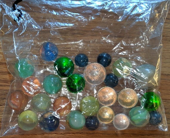 Grandpa/'s Lost Marbles-Mega Player Marbles-24 16mm 1/'/' Shooter Marbles /& 1