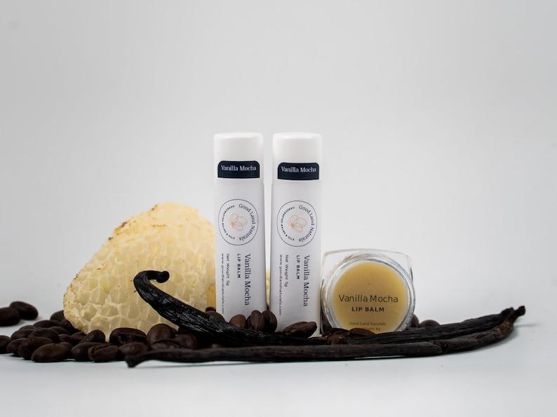 Vanilla Mocha Natural Hand Crafted Lipbalm like chapstick image 0