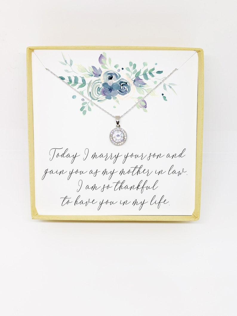 Mother In Law Gift Mother In Law Necklace Mother of the Groom Gift From Bride Mother of the Groom Necklace Mother of The Groom Gift