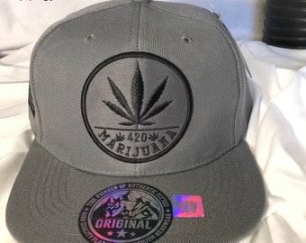 4727dd8183f3d Snapback Men Marijuana Embroidery Baseball Cap