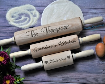 Wood Pastry Pizza French lightweight Rolling Pin Wooden Rolling Pin 19.6 inches ~ 50 cm Wedding gift