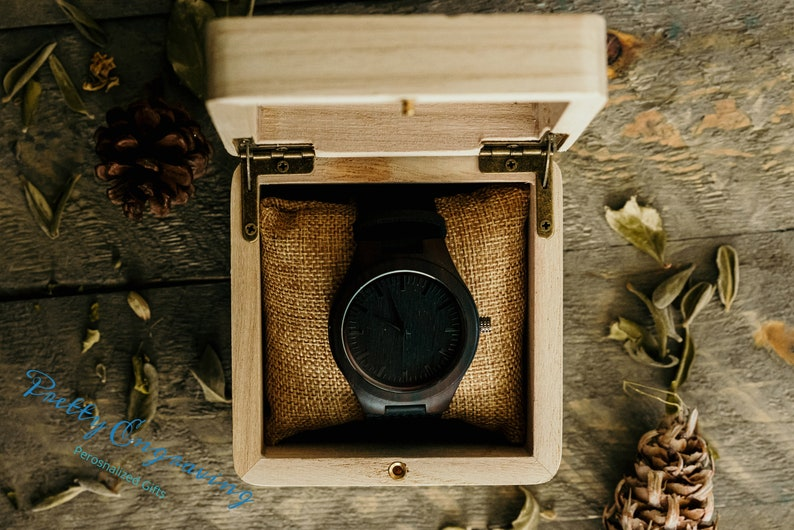 Gift for Men Personalized Watch Personalized Mens Watch image 0