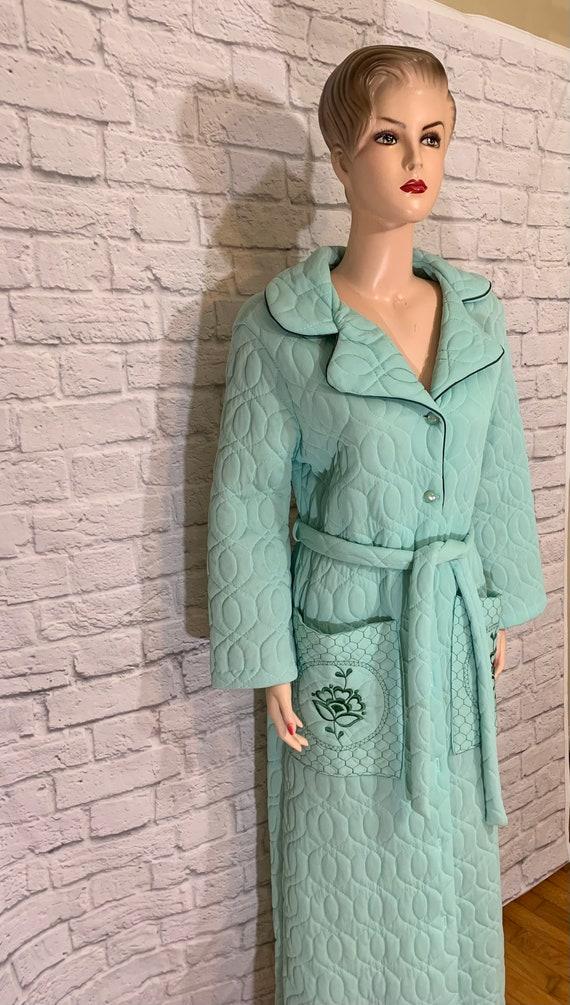 Quilted Aqua Robe