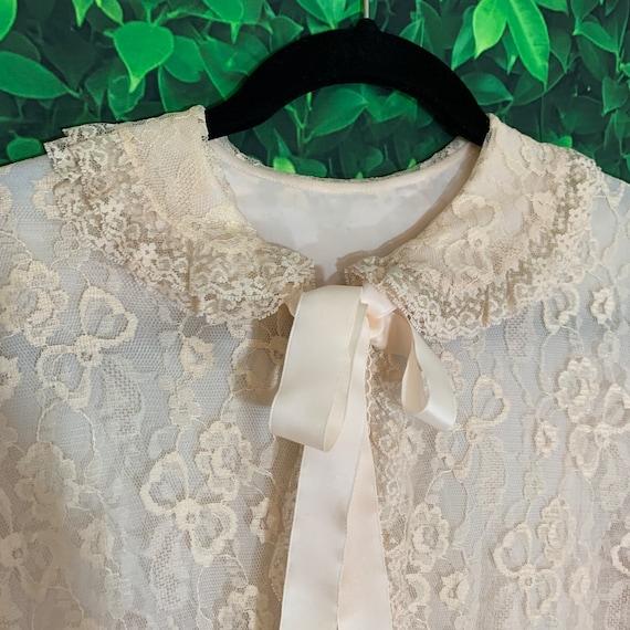 Vintage Odette Basra Boudoir Robe 50s