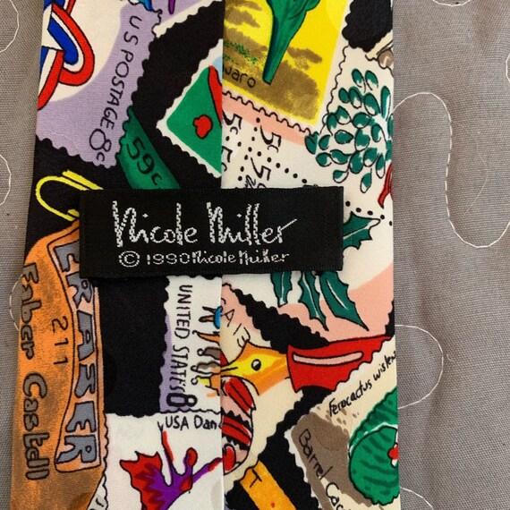 Stamp Tie Nicole Miller - image 5