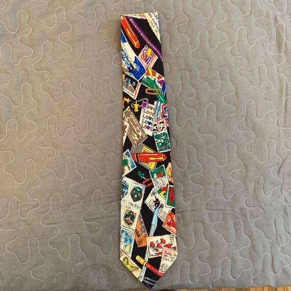 Stamp Tie Nicole Miller