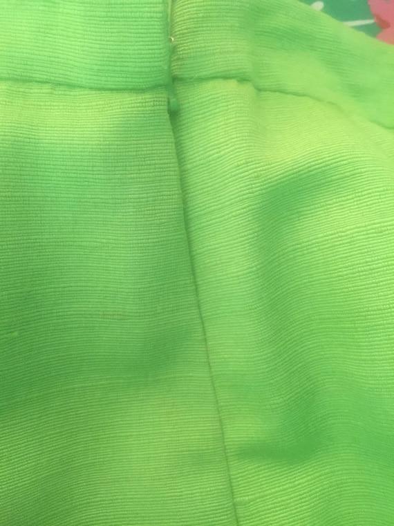 Mary McFadden green silk skirt - image 3
