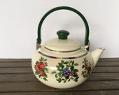 Sonoma Excell Porcelain Enamel on Steel Teapot by Sakura Oneida, made in Indonesia, FREE SHIPPING