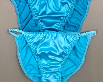 612a24a0c Satin String Bikini Panties