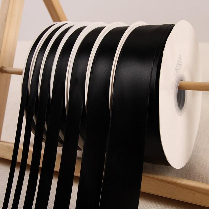 party decoration 100yards black satin ribbon for gift wrapping craft ribbon, wedding decoration