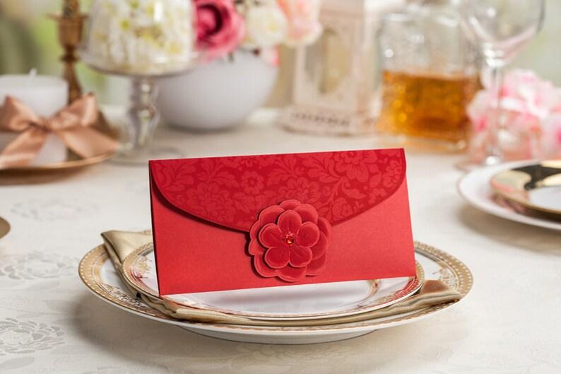 Floral red packets Cash envelpes Qty 5 Money envelopes