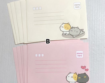 Instant Download Printable Stationery Memo Paper Envelopes Note Cards Cute Ocean Fish Shells Sailor Anime Kawaii Mermaid Stationary Set