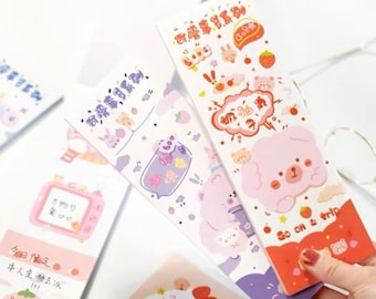 Stationery Notes Peony Notepad Illustrated Notepad Handmade Memo 10.5x14,8 cm 50 sheets,FORMAT A6 Cute Memo Pads Notes