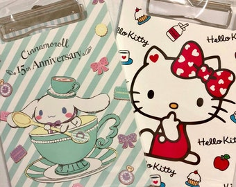 2b6065e96 FREE SHIPPING Sanrio Clip File Folder Paper Storage Filing Organizer Hello  Kitty Note Pad Cinnamoroll Letter Pads School Supplies