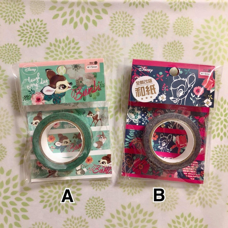 FREE SHIPPING Bambi Washi Tape Disney Washi Tapes Deer Deco Tapes