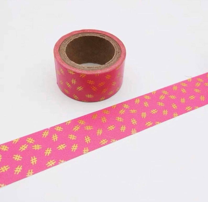 FREE SHIPPING Hashtag Washi Tape Gold Foil Washi Tape Deco Tapes Pink Washi