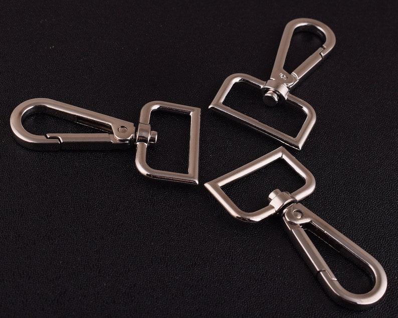 4 pcs Large silver Swivel Clasp Snap Hook 26mm Metal Lanyard Hook Strap Swivel Clasps Connector Bag lobster Swivel Clasphook