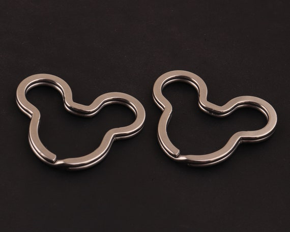 20 Pcs Flat Split Solid Brass Key Rings Key Chain Split Ring Loop Connector