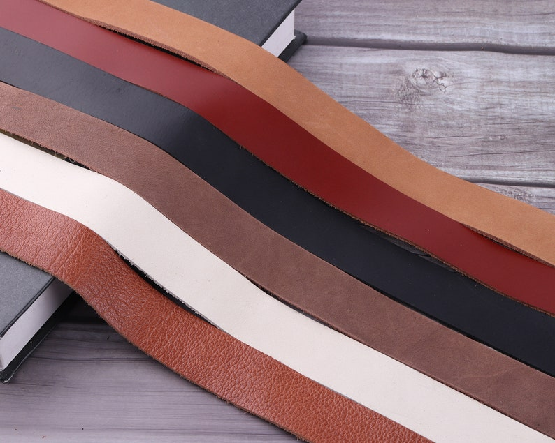 1inch wide Genuine Leather Strap,long leather Strip-white,black,purse strap,belt blank natural Leather for Belt Italian Leather,Raw Material