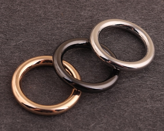15mm-50mm Metal O rings Purse ring Round rings silver and gunmetal O ring buckles Silver o-rings Solid O Ring,purse ring belt rings for bags