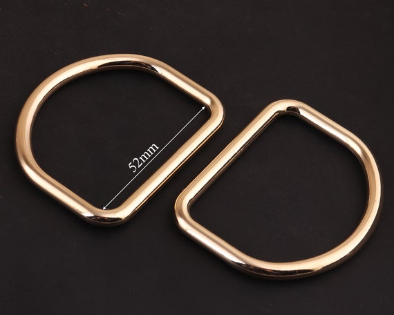 1 inch 25mm gold D rings,metal D buckles D Ring Belt Buckle-jump ring,Purse Loop Bag Clasp Leather Craft Accessories,strap ring purse ring