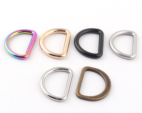 Gold metal D-ring-Purse Hardware Finding for Purse Ring,Clasps Hook Ring,Purse d ring 45 mm Strap d ring D Hooks Buckle Strap Adjuster ring