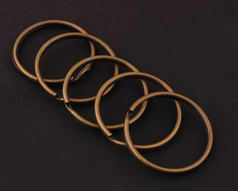 35mm 20pcs 1 38 antiqued bronze Split Rings,Jump Rings Double Loops Bulk Jump Rings Split Ring Double Loop Rings key ring Findings for diy