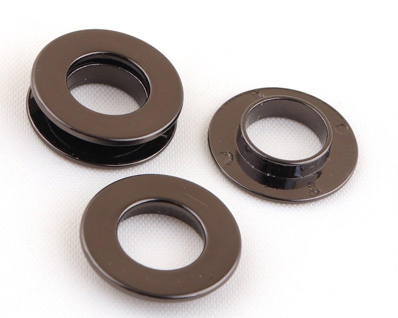 12 mm round screw eyelet grommet gunmetal Metal Eyelet Grommet Zinc Alloy Screw back alloyed Screw in Grommet for DIY Making and purse cloth