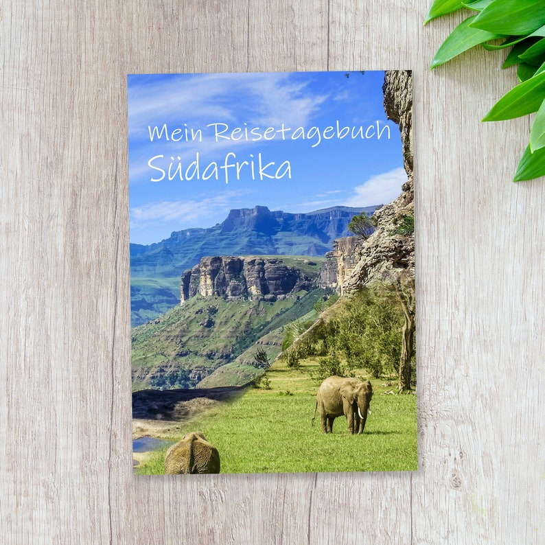 Travel Diary South Africa for Self-Writing  Diary with lots image 0