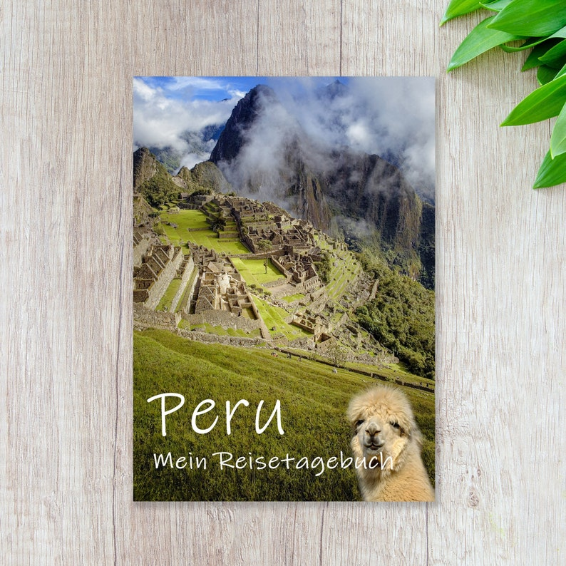 Travel Diary Peru for Self-Writing  Diary with lots of image 0