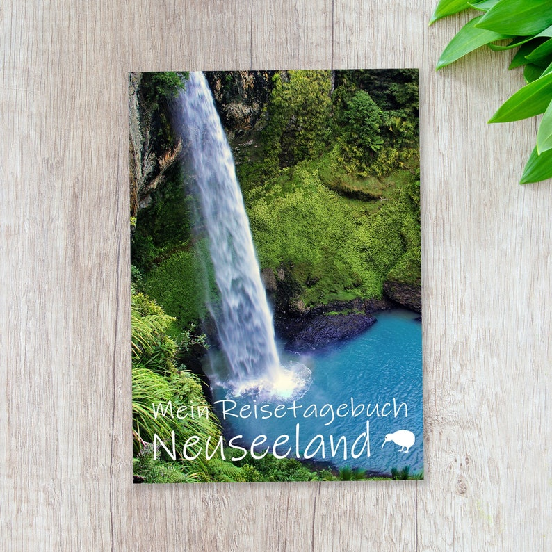 Travel diary New Zealand for self-writing  interactive with image 0