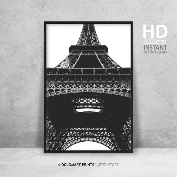 Vintage Art Print Poster Paris Eiffel Tower A1 A2 A3 A4 A5