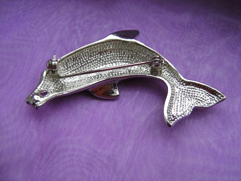 Brooches Wonderland Vintage brooch Dolphin Brooch animal pin Animal brooch Dolphin pin