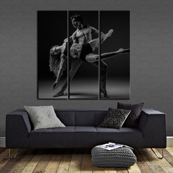 Ballerina And Ballet Art Wall Art Canvas Black And White Etsy