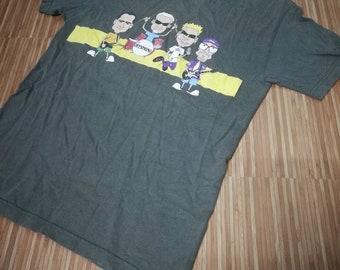 6e57aac1c199 Vintage 90s 00s The Offspring Lineup Cartoon T Shirt !!