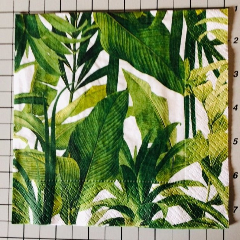 green foliage 2 decoupage foliage  napkins green leaves green  leaves, evergreen herbs serviette