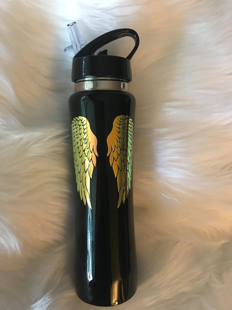 Angel Wings sports stainless steel vacuum bottle