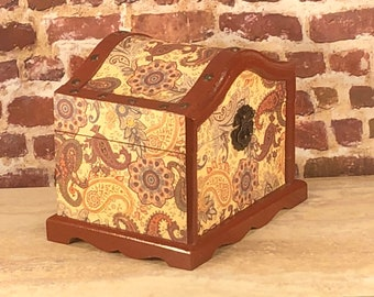 Gentleman's Treasure  Chest keepsake box pirate