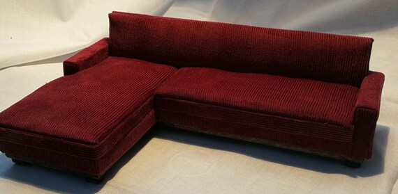 Fabulous Couch Red Small Texture Corduroy Fabric Pdpeps Interior Chair Design Pdpepsorg