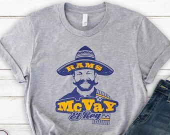Sean McVay El Rey Los Angeles Football T-Shirt    Los Angeles Rams Coach  Inspired   Todd Gurley Jared Goff CJ Anderson Brandin Cooks Tee ef10794d5