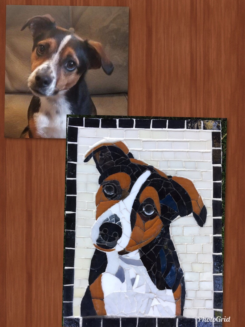 Custom mosaic from photo of your pet