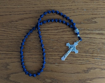 White Wooden Prayer Rope 50 Knots Rosary Beads With A Metal Cross Четки