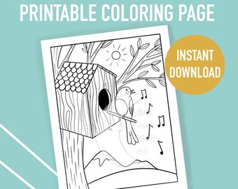 59 Best Birdhouse Coloring Pages for Kids - Updated 2018 | 270x340