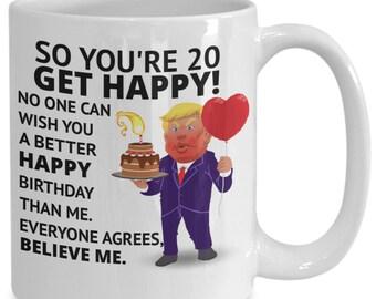 20th Birthday Gift Happy Idea Present Coffee Mug Daughter Son
