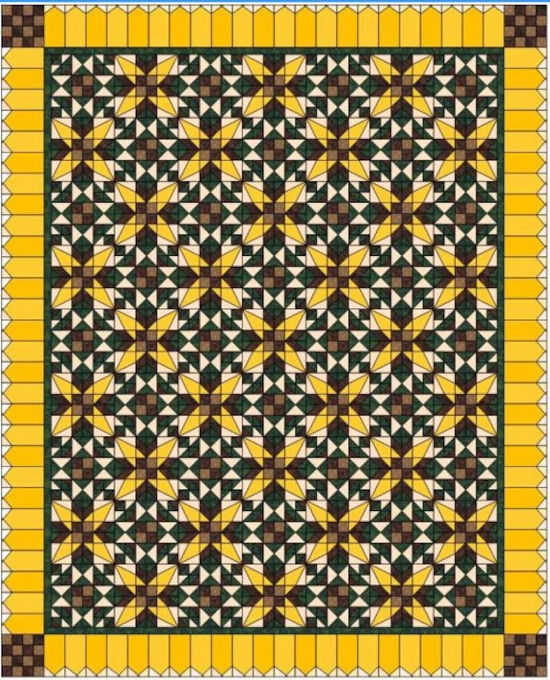 Sunflower Fields Quilt Pattern image 0